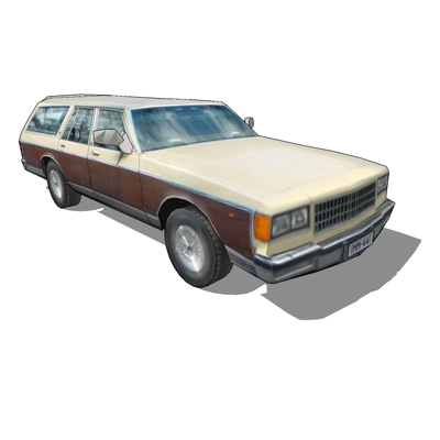 Photo real 1980's Chevrolet Caprice Station Wagon.