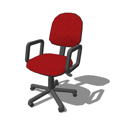 Generic typist chair with arms.