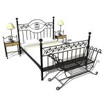 Wrought iron bedroom set with leaves motive by La ...