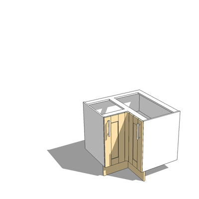 925x925mm corner base unit,