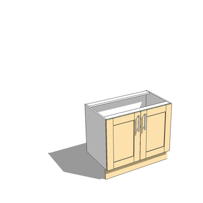 1000mm wide base unit,