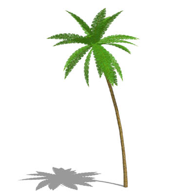 Low poly palm tree for distance and large numbers..