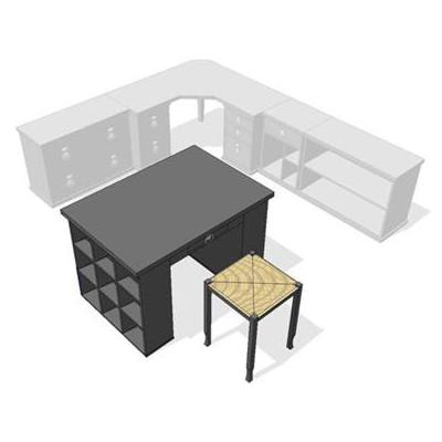 Bedford Modular Home Office. Shown in Black..