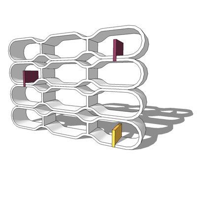 Brick shelving units by Cappellini, designed by Ro....