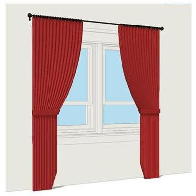 Window Drapery. Shown at 84