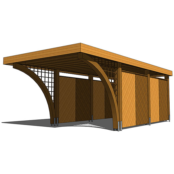 Carport for one car. 