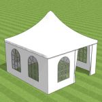 Small garden party marquee