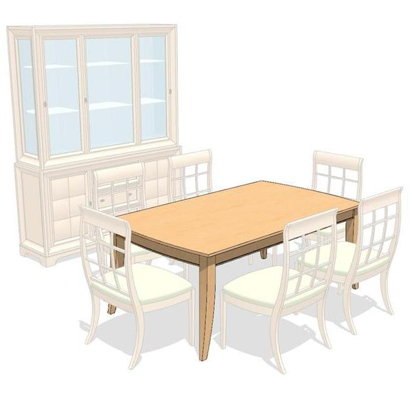 Attache Dining Set. Shown in light maple..