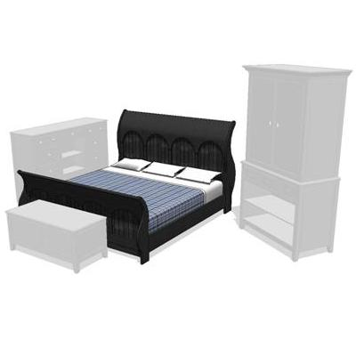 Yorkshire King Size Bedroom Set. Shown in a black ....