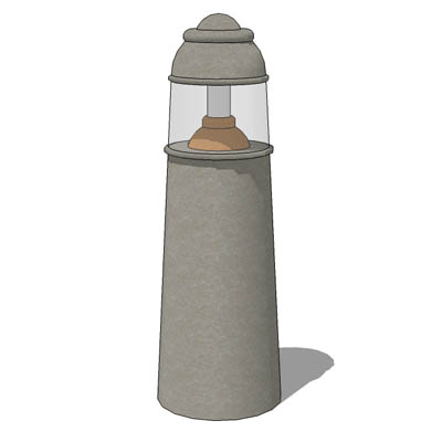Bollard light based on Pharos model from Foxdesign....