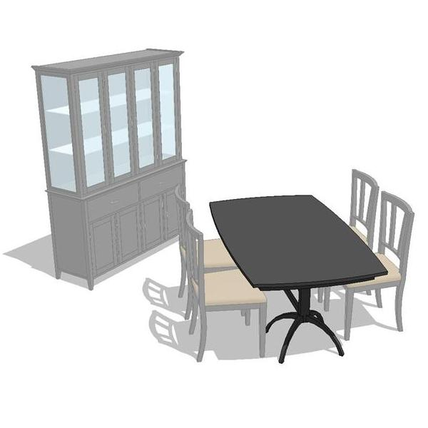 Arches Dining Set. Shown in black finish..