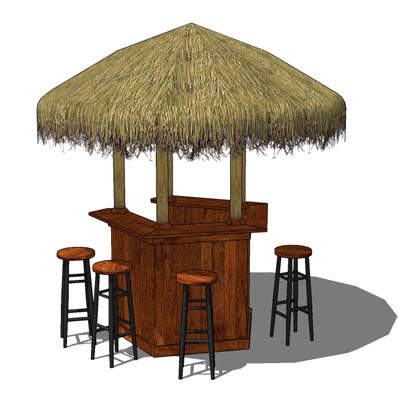 Small poolside tiki bar..