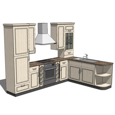 Off-the-shelf full generic kitchen for quick inser....