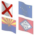 Official state flags