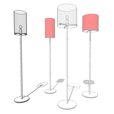 CPL F1  F3 floor lamps by Prandina, designed by Ch....