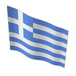 Greek flag, all geometric, no texture-mapping