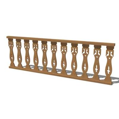 Deck Railing. Shown in wood finish and also a sepe....