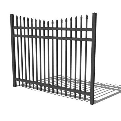 Peartop wrought iron fence and gate..