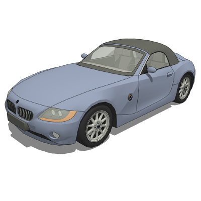 BMW Z4 Roadster; with and without roof.