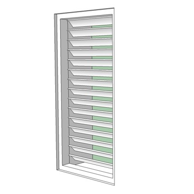 "48"" Tall with 3"" Operable Louver. Automa...."