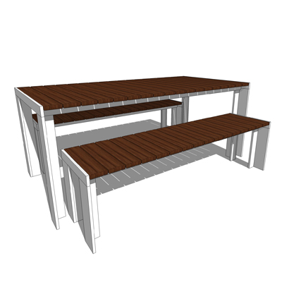 Deneb Teak table and benches from Design Within Re....