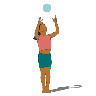 2D Face Me figure; young girl with ball..