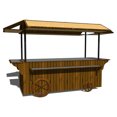 Coffee cart.<br />