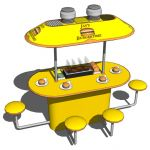 Mini food court is a set of models to include in m...