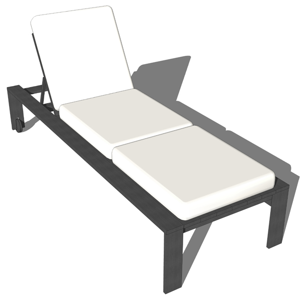 Outdoor lounge chair. Can be used in combination w....