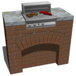 Outdoor BBQ. Configurations include a non-covered ...