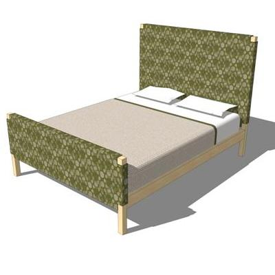 Coming Soon Bedroom Set. Shown in maple with fabri....