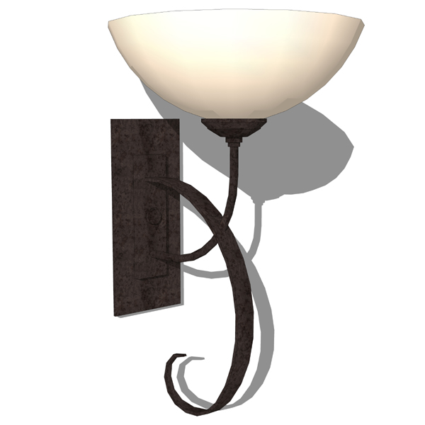 Hubbardton Forge wrought iron wall sconce..