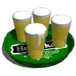 Heineken beerplate in different configurations: wi...