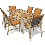 Dining set c/w chair with and without arm
