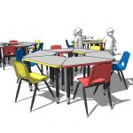 2300 circle children's desks and chairs by Royal S...