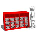 Baseline storage cubbies by Angeles for elementary...