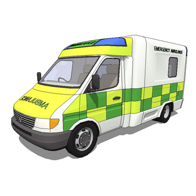 Mercerdes Benz Sprinter. Ambulance and van.