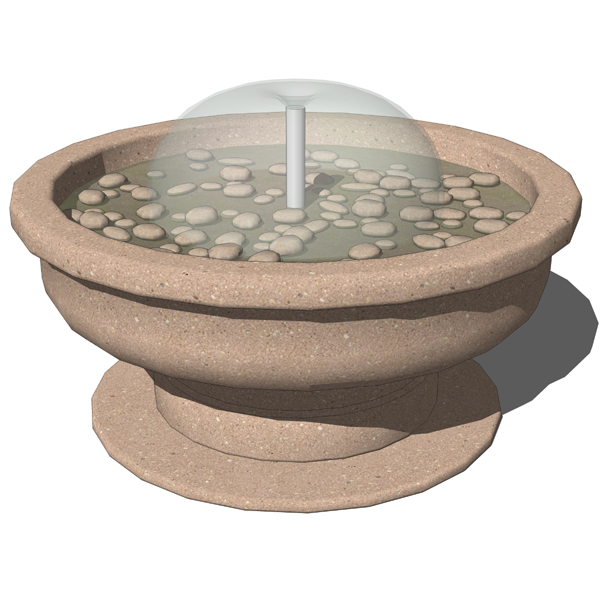 Fountain With Pebbles 3d Model Formfonts 3d Models
