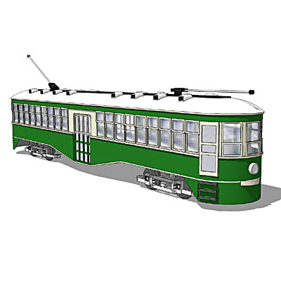 Electric trolley/tram, similar to the popular Bril....