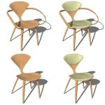 The iconic Cherner armchair (molded plywood, 1958)...