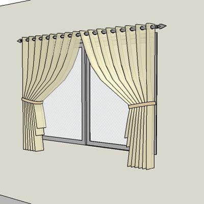 Generic curtains - full ht and half ht.