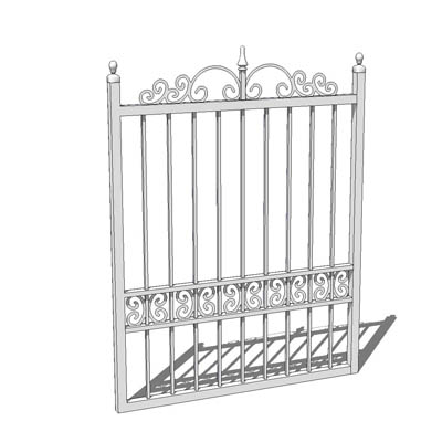 Wrought iron garden gate; 3ft 9inches wide for 4 f....