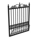 Wrought iron garden gate; 3ft 9inches wide for 4 f...