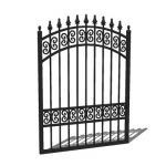 "Wrought iron garden gate; 3'9"" for 4' opening..."