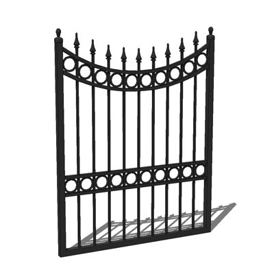 "Wrought iron garden gate; 3'9"" for 4' opening...."