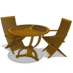 Teak wood dining set suitable for both in and outd...