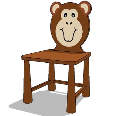 Kid's chair-cartoon charater series.