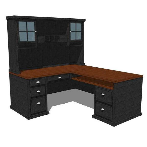 Black Forest Home Office. Shown in black stained w....
