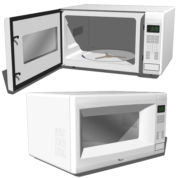 Microwave oven. To open look for an endpoint (hidd....