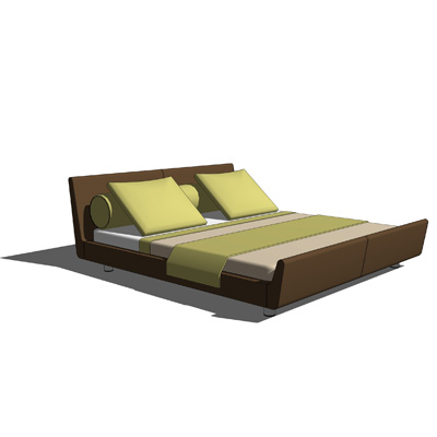Loja Leather Bed Queen size designed by Abad Dise&....